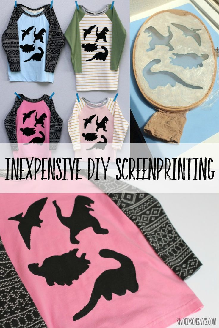Think screenprinting has to be hard? I tried it at home, using an embroidery…