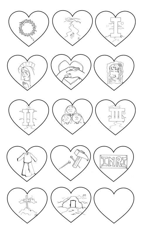 Actividad y dibujos sobre cada uno de los elementos del vía crucis ...