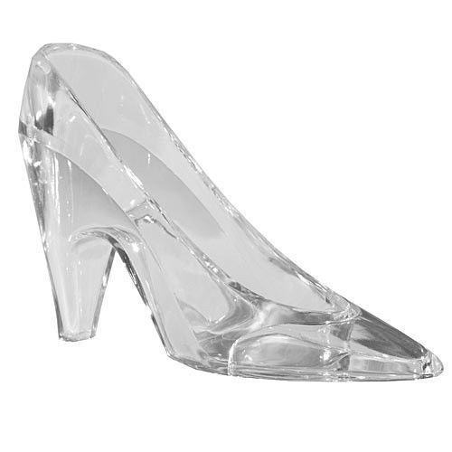 "Cinderella ""Glass Slipper"" Wedding Cake Topper, Table Decoration or Party Favour - Plastic"