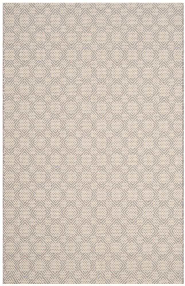 Cheneville Cotton Hand-Woven Silver/Ivory Area Rug