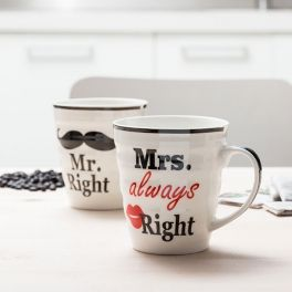 Canecas Mr. Right & Mrs. Always Right