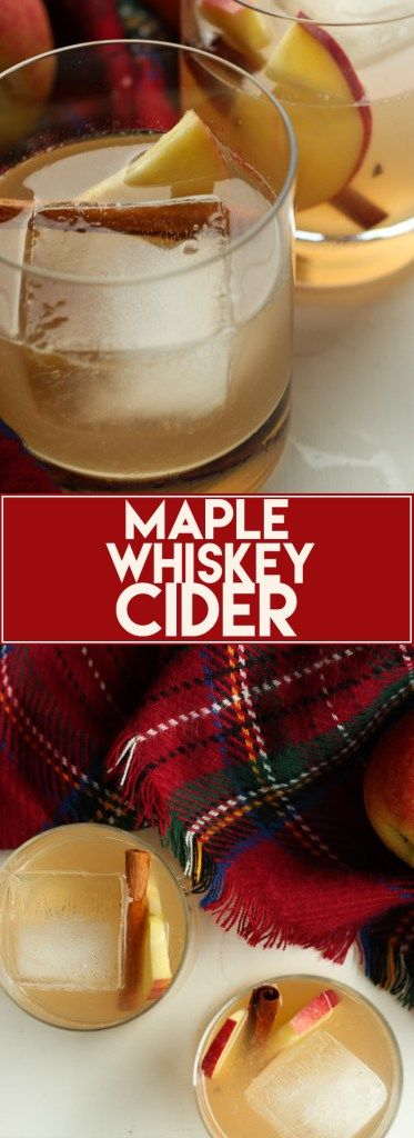 Who needs a cocktail? This Maple Whiskey Cider is the perfect fall cocktail. It uses fresh apple cider and maple whiskey - also an alternative recipe with regular whiskey.