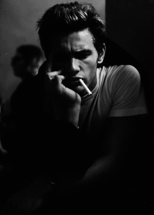 Black and white photography man portrait james franco