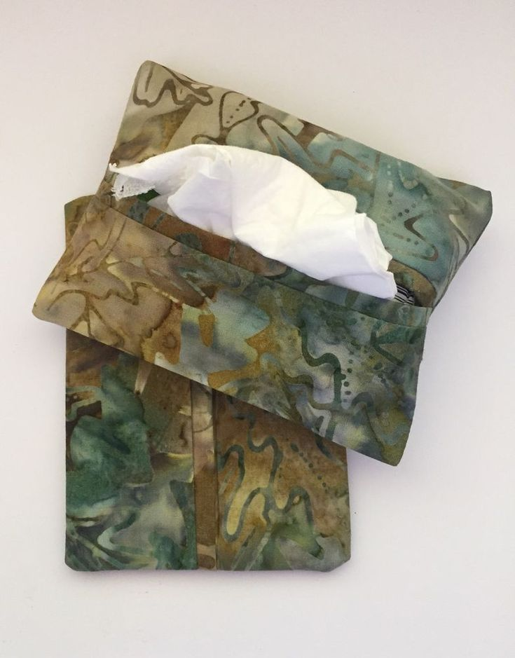 Batik Leaf Fabric Purse Kleenex Tissue Holders, Tissue Packet Cover, Handmade  | eBay