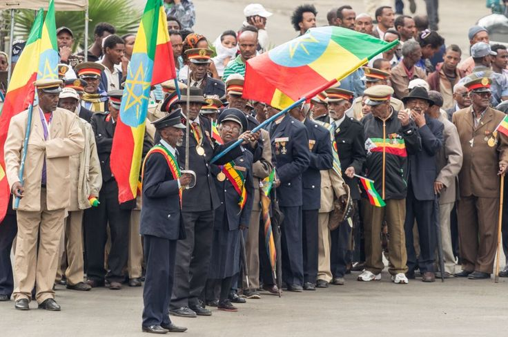 Arbegnoch Qen - Patriots' Day-Addis Ababa - May 5: Arbegnoch, Patriots and old war veterans participate at the 74th anniversary of Patriots' Victory day commemorating the defeat of the invading Italians on May 5, 2015 in Addis Ababa, Ethiopia.