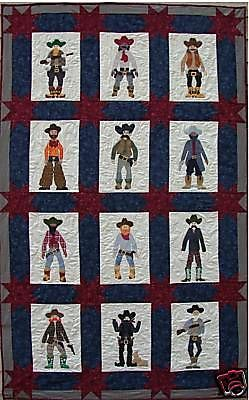 Quilt Pattern Posse Cowboy Americana Boots Applique by Lavendar Rabbit..available on Ebay
