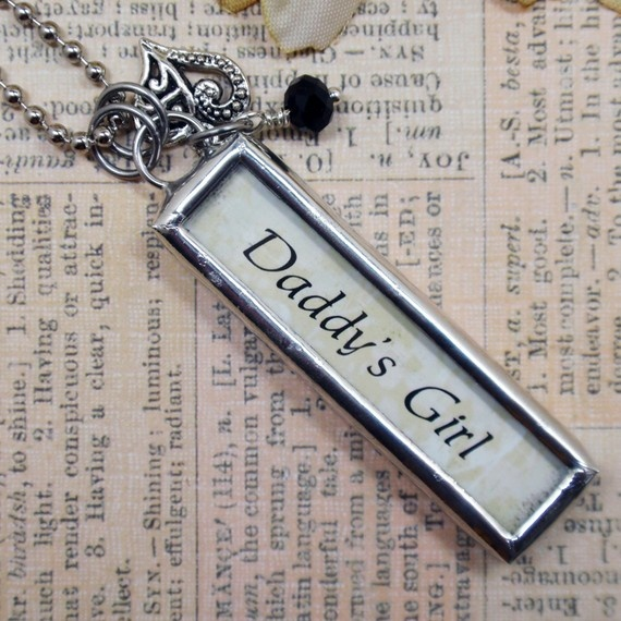 Items similar to Daddys Girl Forever Double Sided Silver Soldered Charm/Pendant/Necklace on Etsy bdsm master slave via pinterest