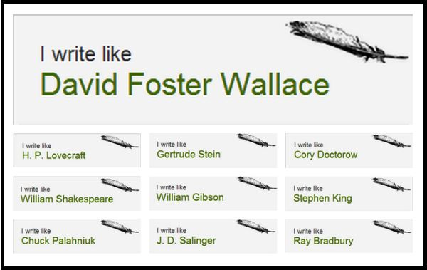 Which famous writer's style is most like your own? - Writers Write