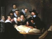 Anatomy Lesson of Dr Tulp by Rembrandt Van Rijn