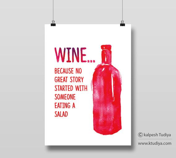 Wine Quote_ Red_Beer_ Typography Poster_Bottle Art_Poster for bar...