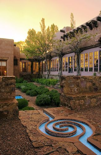 water feature...   School for Advanced Research (SAR) Campus, Santa Fe, New Mexico