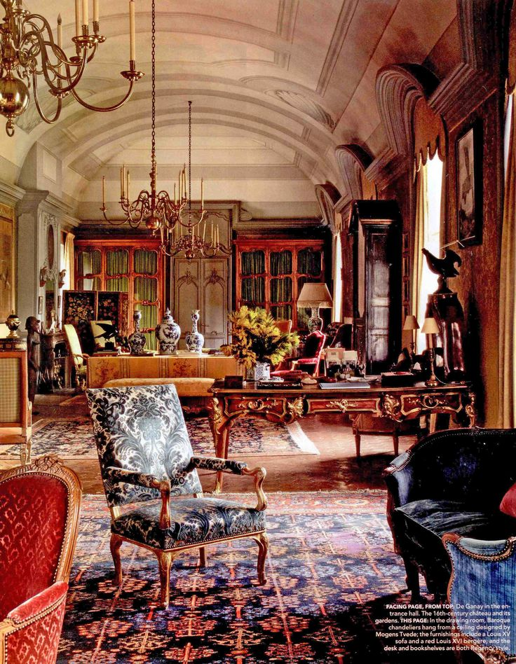 English Country House Drawing Rooms: Chateau De Fluery Drawing Room