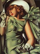 Girl with Gloves  by Tamara de Lempicka (inspired by)