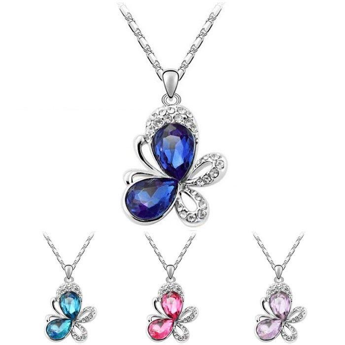 Temukan dan dapatkan Kalung Swarovski Crystal Elements Butterfly hanya Rp 195.000 di Shopee sekarang juga!…