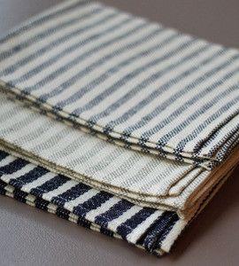 Fog Linen Kitchen Cloth - contemporary - tablecloths - by Alder & Co.