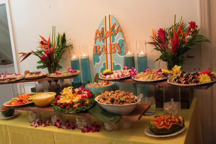 hawaiian baby shower ideas