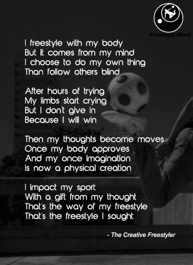 Poem of the creative freestyler