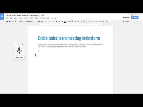 Google Docs ya permite editar y darle formato a documentos con comandos de voz - Lista de comandos - Geek's Room
