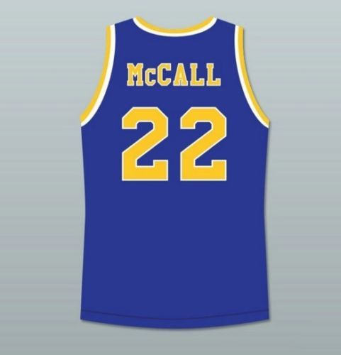 Quincy-McCall-22-Crenshaw-High-School-Love-and-Basketball-Jersey-Omar-Epps-New  Actor -Omar Epps Item -  Quincy McCall 22 Crenshaw Jersey Movie - Love and Basketball High School Color - White , Black , Blue , yellow Sport - Basketball