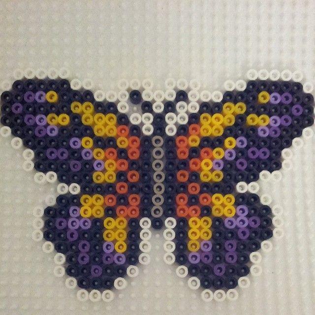 Butterfly hama perler beads by corinaaquamarina