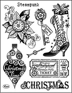 Viva decor clear stamp Steampunk Christmas (Tanja)