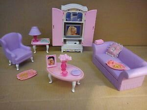 Barbie Doll U2013 Living Room Play Set Vn Complete With Lots Of Small Accesories