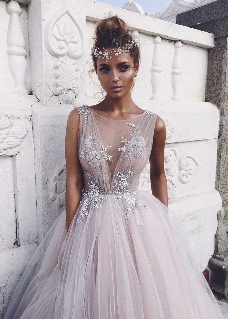 Wedding Dress Simple Alluring Tulle Bateau Neckline Ball Gown