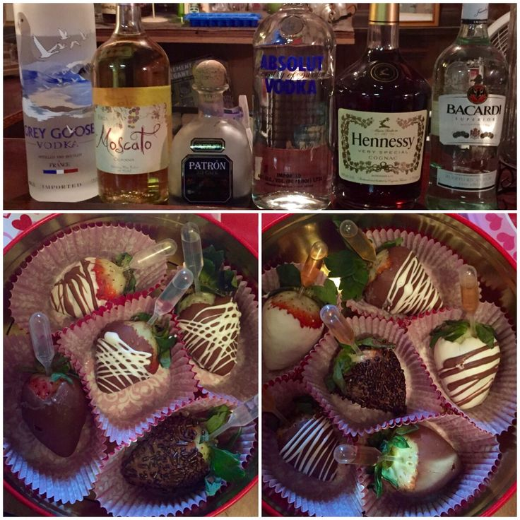 Alcohol infused strawberries Hennessy grey goose drunken berries chocolate covered strawberries