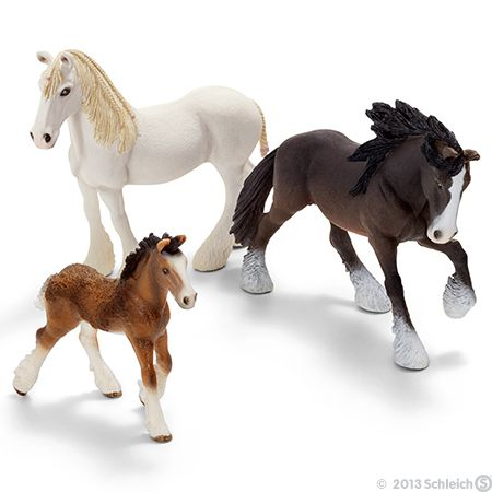 I have the stallion Shire Horse and the foal (mine is a colt) yet I've named all of them! Stallion: Robin Hood Colt: Tuck Mare: Marian