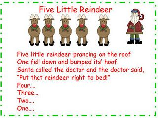 Five Little Reindeer song and song chart