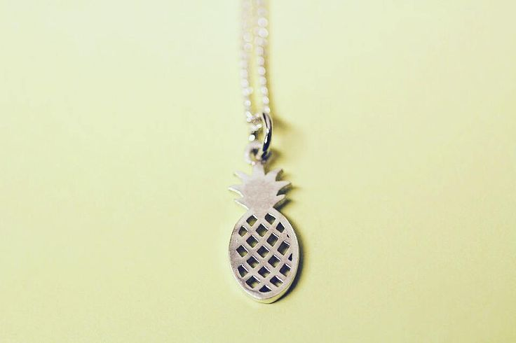 Pineapple sterling silver pendant by FrankieAndCoNZ on Etsy