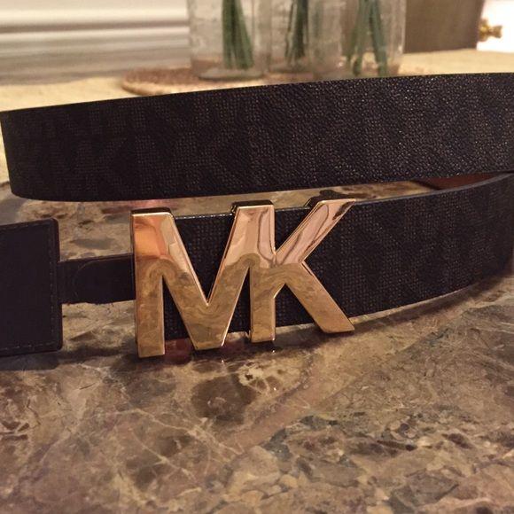 michael kors belt nwt michael kors belt brown michael michael kors accessories belts my posh. Black Bedroom Furniture Sets. Home Design Ideas