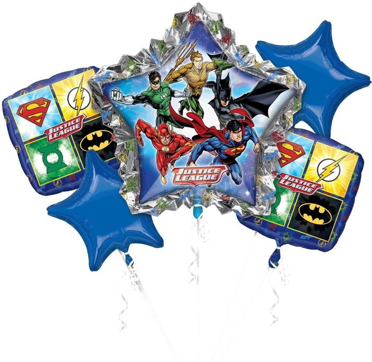 ☆JUSTICE LEAGUE,DC-ANAGRAM-BALLOONS-MYLARS-BOUQUET-PACKAGED-QUANTITY=1☆ #Anagram #BirthdayChild