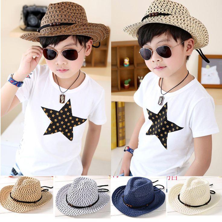 >> Click to Buy << Hand woven children's cowboy hat leisure jazz hat New fashion baby sun beach hat Kids summer cool straw hats cap #Affiliate