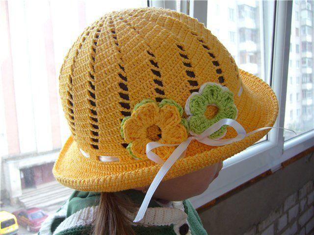 tığ işi yazlık bebek şapkaları