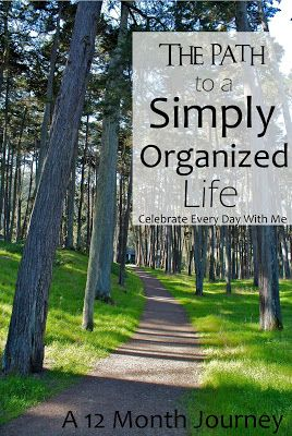 12 month journey to get my life organized!