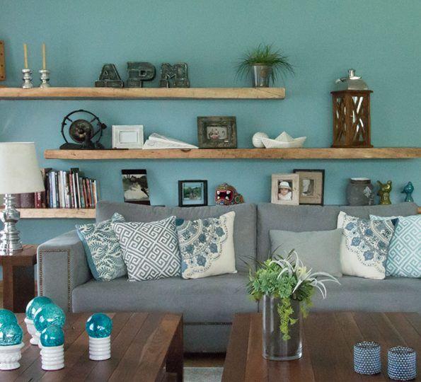 Las 25 mejores ideas sobre paredes de color turquesa en for Decoracion de salas en gris y amarillo