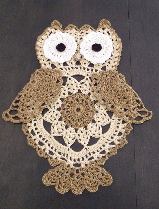 Crochet Patterns - Crochet Doily Patterns - Crochet Owl Patterns - Crochet Hooty Hoo! Pattern
