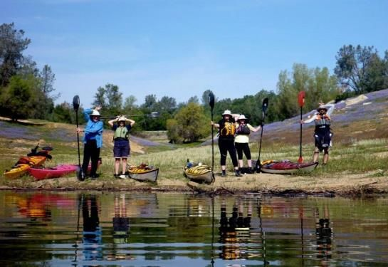 Folsom Lake provides some of the best paddling experiences imaginable throughout its 75 shoreline miles. You'll find sandy beaches and an endless supply of secluded coves, with water so clear you can see to the bottom. http://www.paddlingcalifornia.com/Folsom_Lakes.html