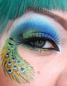 Peacock Feathers eye make up                                                                                                                                                                                 Mehr