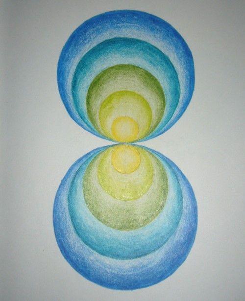 Waldorf ~ 6th grade ~ Math ~ Geometry ~ Eccentric Circles Reflection
