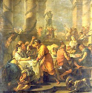 Los Romanos celebrando la Saturnalia.