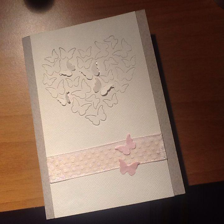 Card con fustella Memory box die