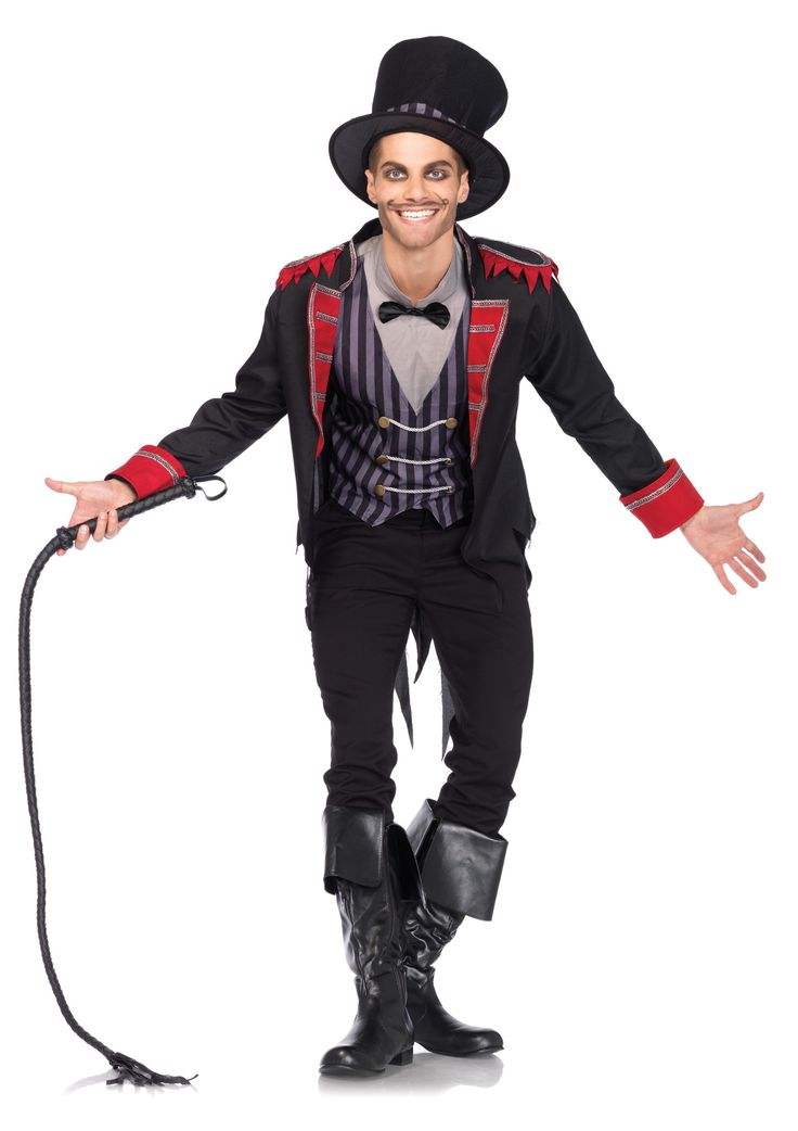 Want to be sinister this Halloween? Look no further! This costume includes the jacket, shirt and vest combo, top hat, and bow tie. Come to the Stagecoach for the whip accessory and makeup from Ben Nye