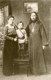 Padre Florenskij con la moglie e il primo figlio