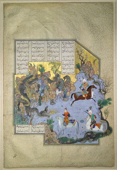 "An illustrated folio made for Shah Tahmasp of Persia in the 1500s sold for $12.2 million imageMost expensive Islamic art ever sold  This illustration from the Shahnameh, or ""Book of Kings,"" sold for nearly four times pre-sale expectations to an anonymous telephone bidder during a Sotheby's auction in London in May 2011. Read more: http://www.businessinsider.com/thelife50?op=1#ixzz3O5B04psl"