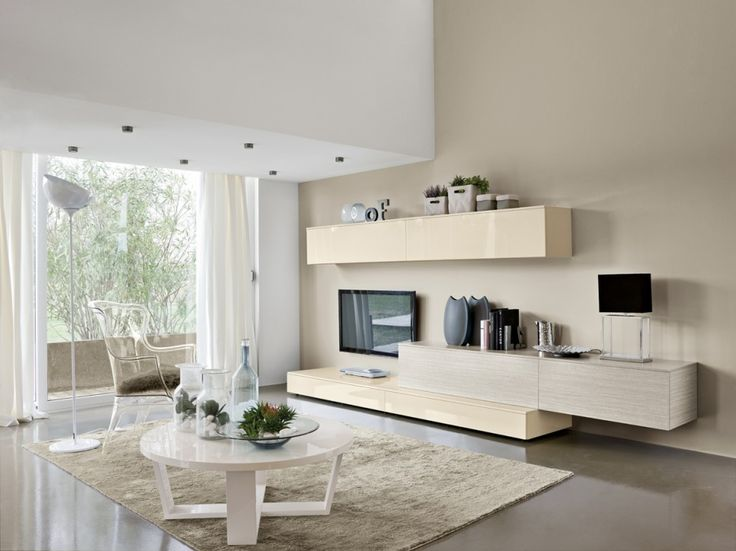 Living Room Designs Breathtaking Wall Units For Combining Bookshelves Container With Various Ornaments And Lcd Tv Unit Also Rounded White
