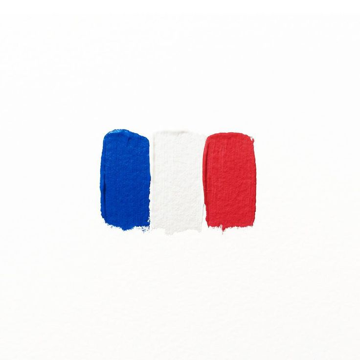Minimal brushstrokes form the French flag. ❤️ #prayforparis