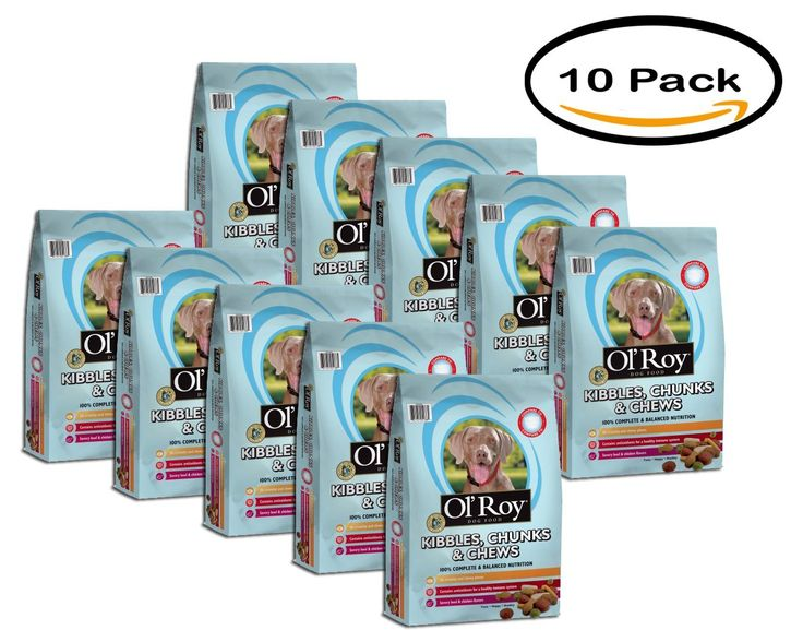 PACK OF 10 - Ol'Roy Kibbles, Chunks and Chews Dog Food 4lbs ** Learn more by visiting the image link. (This is an affiliate link) #MyPet