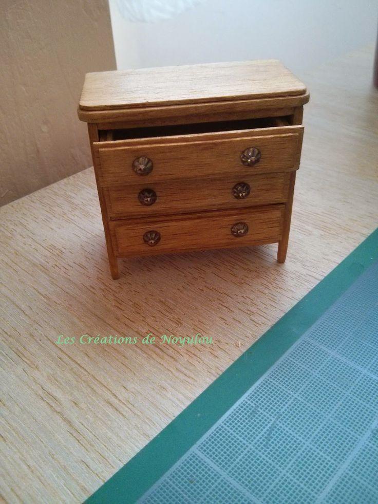 les creations de noyulou commode chambre enfant miniatures furniture pinterest. Black Bedroom Furniture Sets. Home Design Ideas